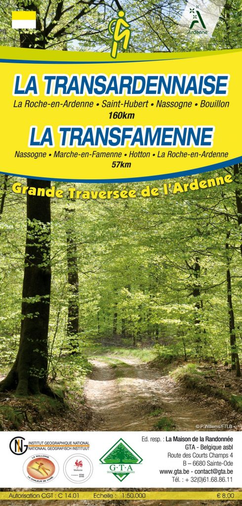 Carte de La Transardennaise à pied