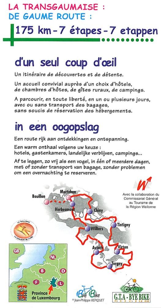 Road Book La Transgaumaise à vélo