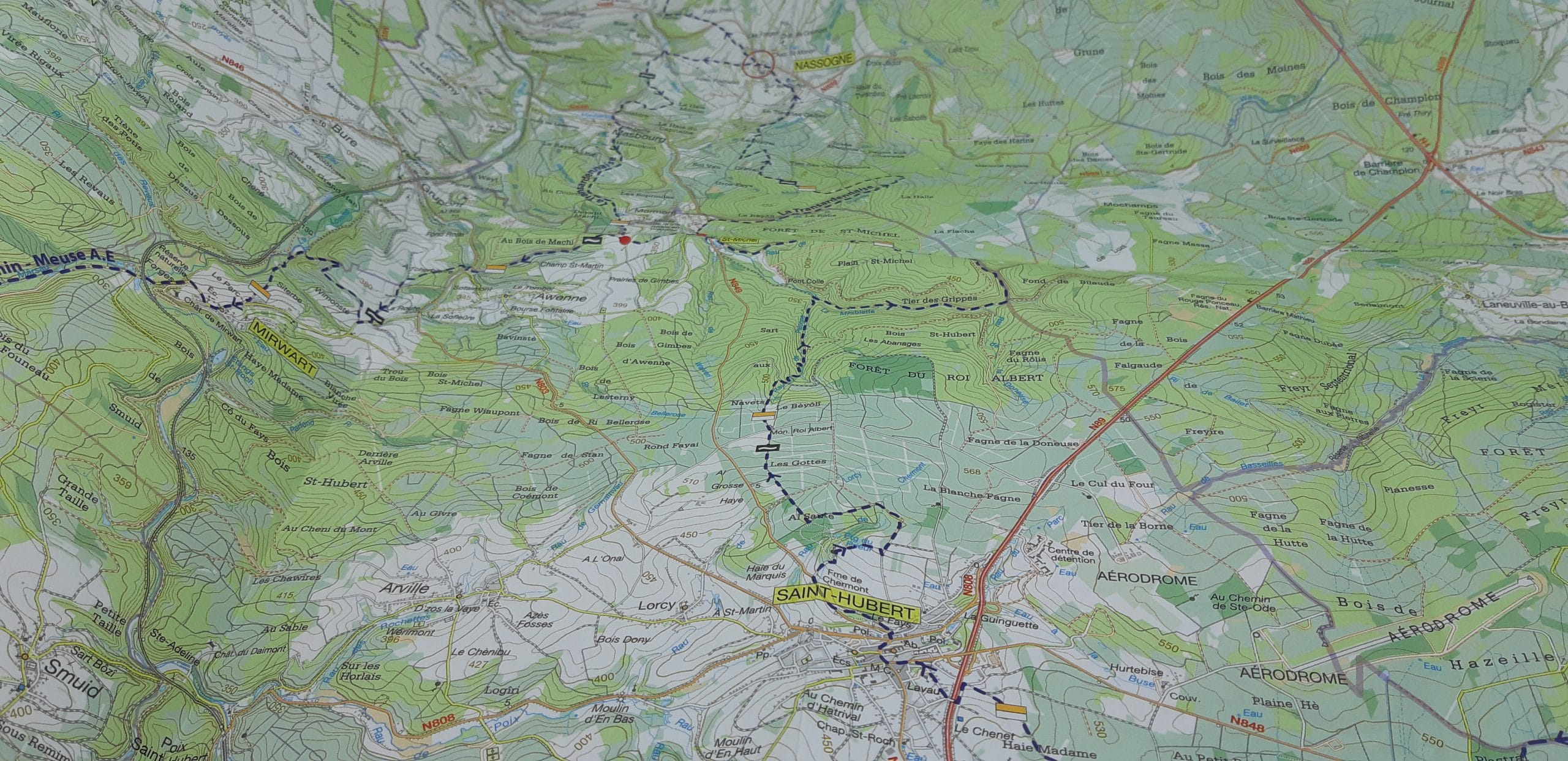 map of the Transardennaise